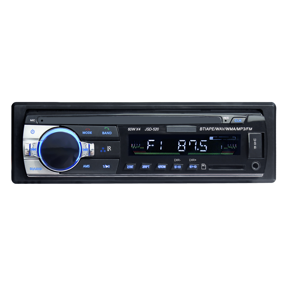 Short 520 12V 1Din Car MP3 Player Car  Music Player TF Card USB Flash Disk AUX in FM Transmitter With Remote Control-in Car MP3 Players from Automobiles & Motorcycles