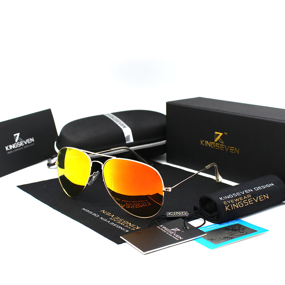 4ec38a4289145 KINGSEVEN Clássico Da Moda Polarizada Óculos De Sol Dos Homens ...