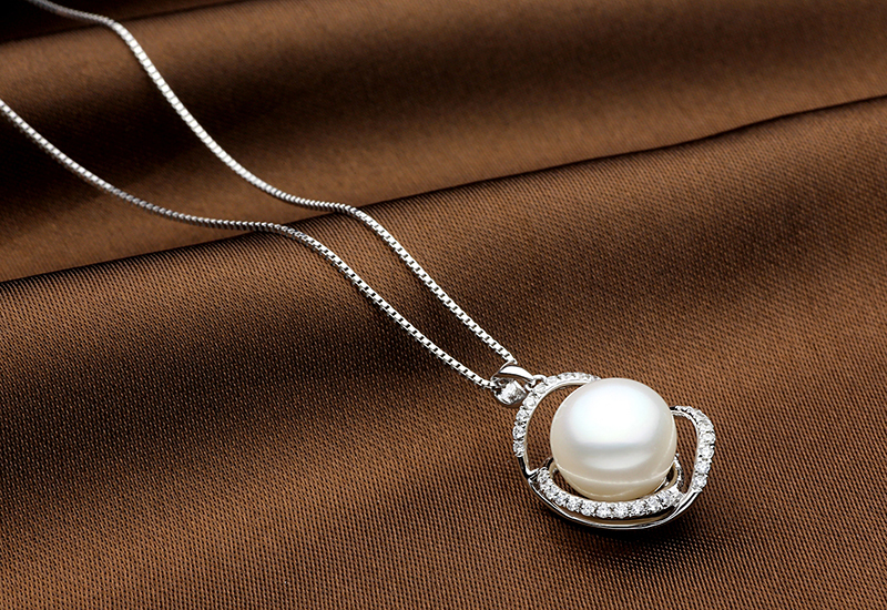 TZ10121WP silver pearl necklace 3