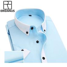 Patchwork Men Shirts Short Sleeve 2016 Fashion Brand Dress Shirt Slim Fit Business Casual Social Camisas