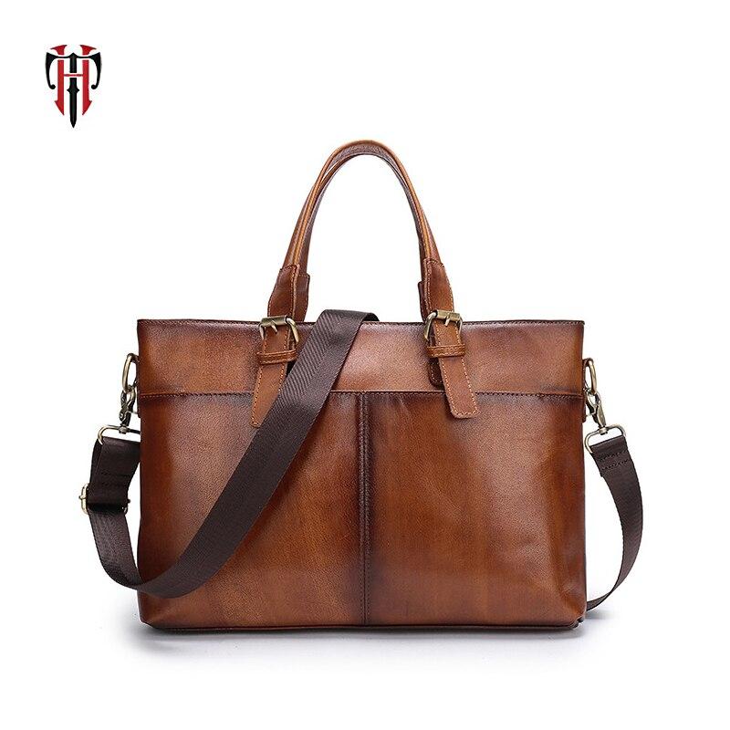 TIANHOO 2018 manual color man bags genuine leather crossbody & handlebags Retro style fashion shoulder men bags все цены