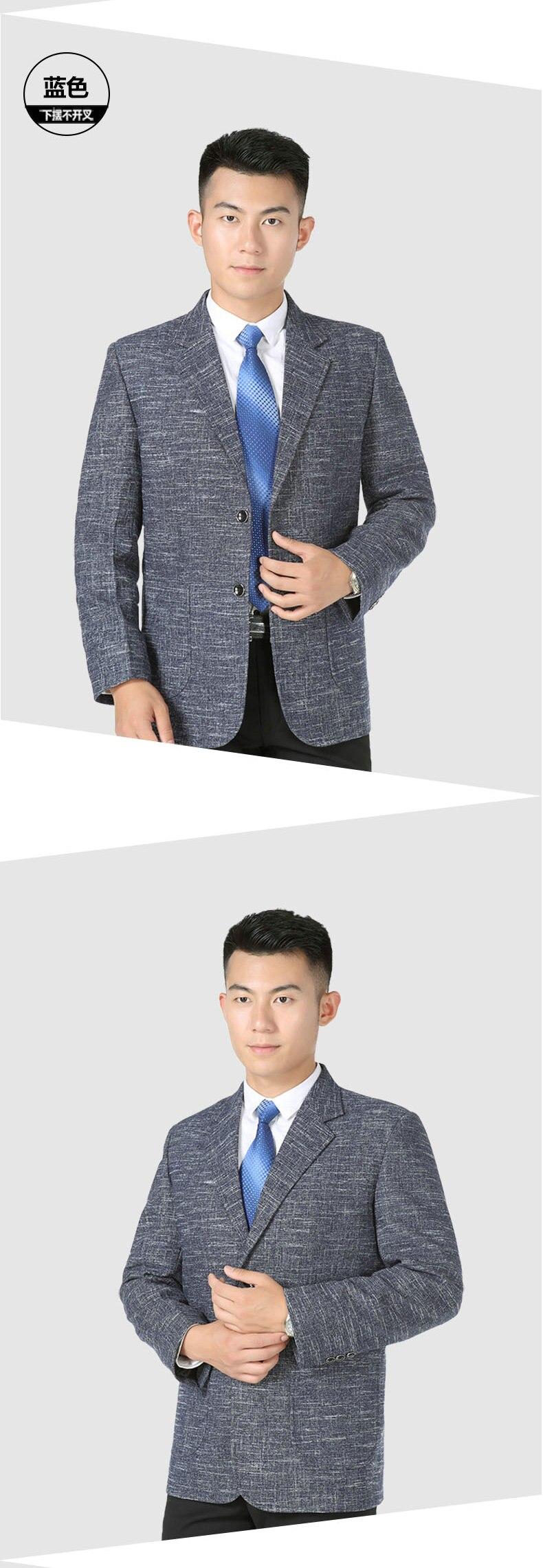 WAEOLSA Men Elegance Blazers Gray Red Khaki Suit Jackets Man Notched Collar Outfits Business Casual Blazer Male Office Suit Jacket Plus Size Wear (5)
