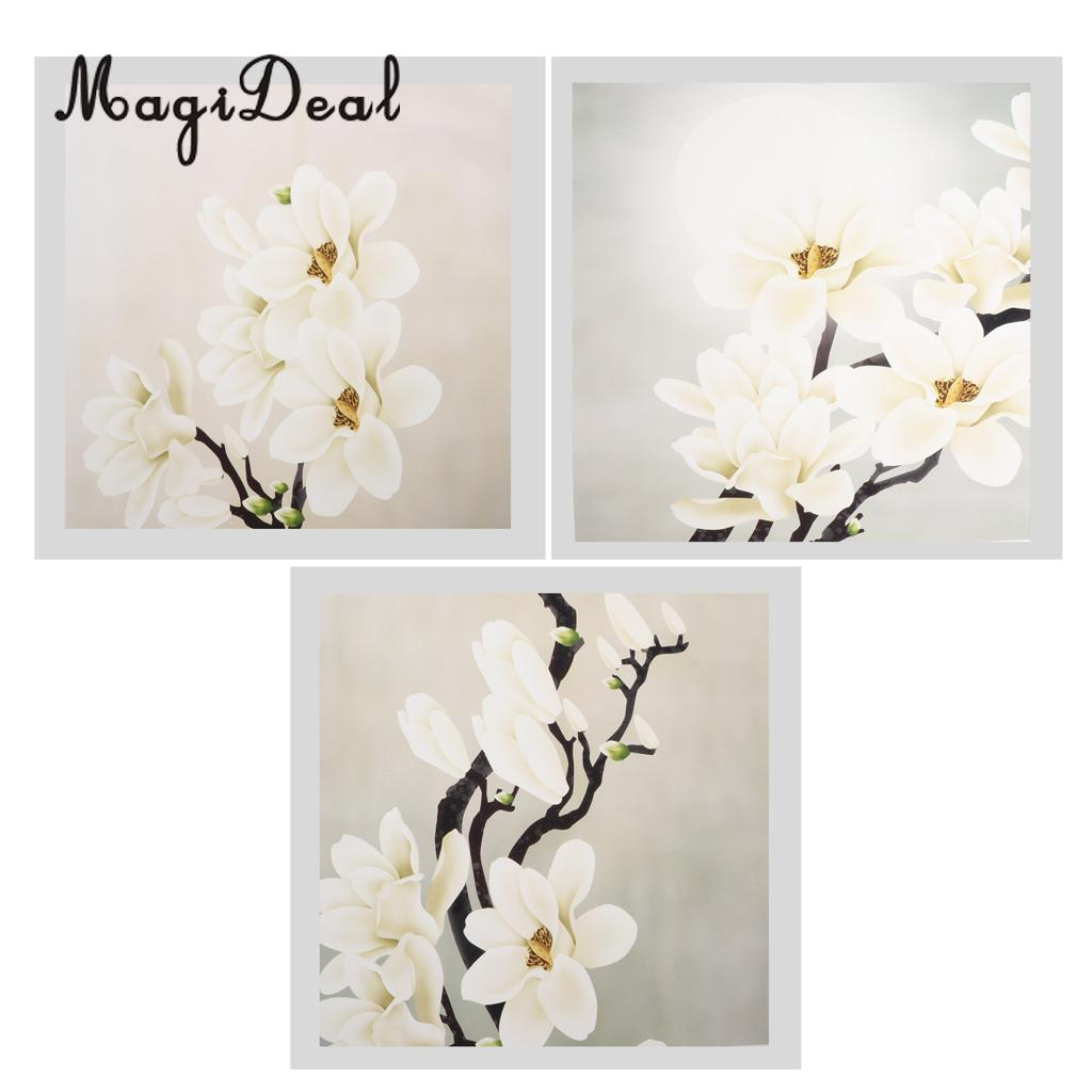 3 шт. современные абстрактные настенные декоративные Книги по искусству картина маслом белый цветок, внутренний сад висит картина, плакат