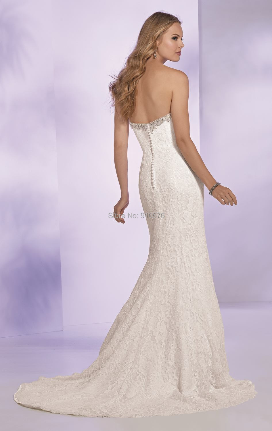 Refined Lace Wedding Gown Sweetheart Neckline with beaded Perfect Fitting  Shape Bride Dresses With Beaded Belt Chapel Train-in Wedding Dresses from  Weddings ... 8829e63eb1e2