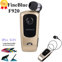 Israel FineBlue F920 Wireless Auriculares Driver Bluetooth Earphone Calls Remind Vibration Wear Clip Headset Sport Running