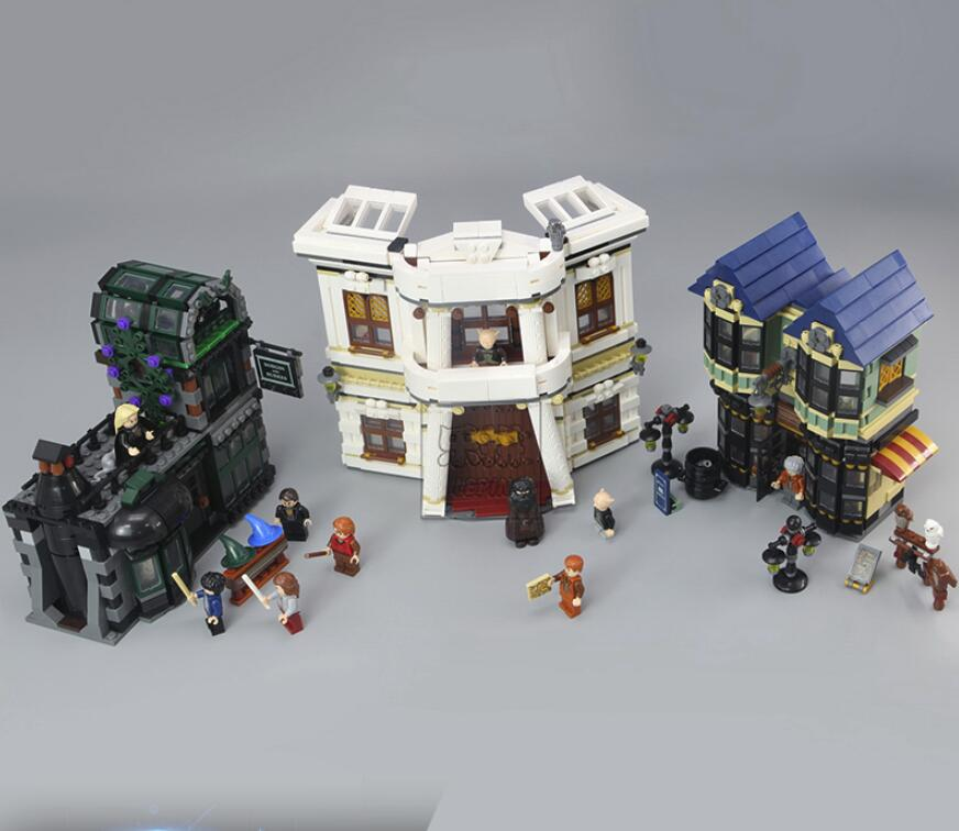 16012 2025Pcs Magic Word Diagon Alley Set Educational Building Blocks Bricks Model Toy Gift 10217