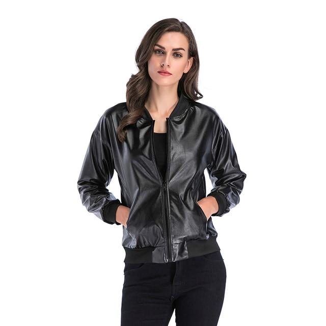 6284e5679fd Gothic Rock Punk Leather Jacket Women Fashion Windbreaker Vintage Faux  Leather Bomber Jacket Women Coat Coats Jackets Woman Tops