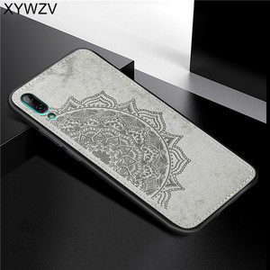 Image 1 - Huawei Y7 Pro 2019 Shockproof Soft TPU Silicone Cloth Texture Hard PC Phone Case For Huawei Y7 Pro 2019 Cover For Huawei Enjoy 9