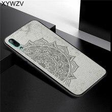 Huawei Y7 Pro 2019 antichoc doux TPU Silicone tissu Texture dur PC téléphone étui pour Huawei Y7 Pro 2019 couverture pour Huawei profiter de 9