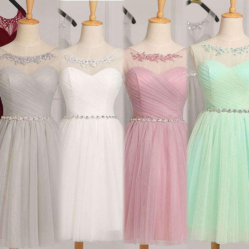 Us 2772 18 Offrobe De Soiree 2019 Lace Up Sleeveless With Crystal Evening Dress Vestido De Festa Prom Dresses Party Dresses Tailor Custom Made In