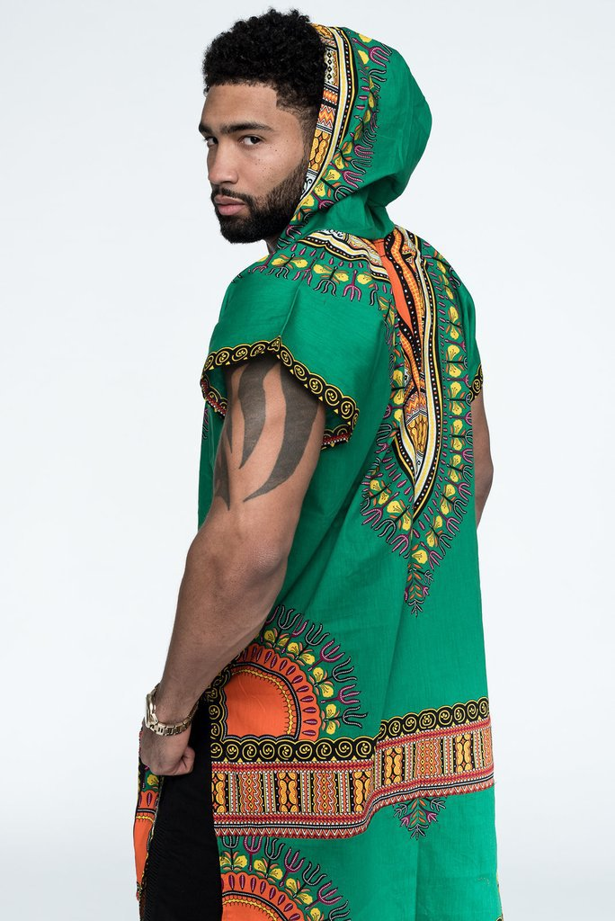 Adult Men African Dashiki Print Costume Sweatshirt Hoodie Sleeveless Hippy Hooded Vest Waistcoat Outwear Tunic Wear For Me