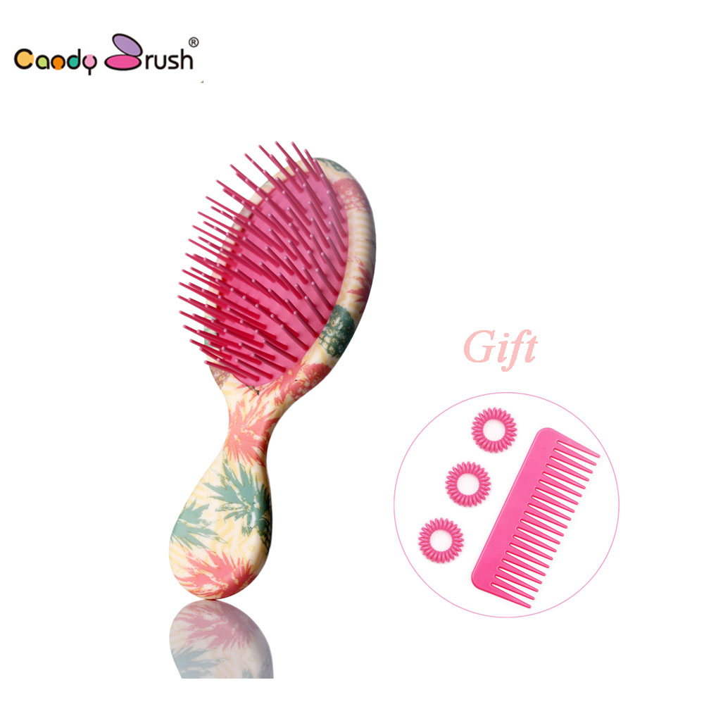 2019 New Anti-static Hair Brush Massage Comb Shower Wet Detangling Hair Brush Salon Hair Styling Tools with TwoGifts (Small Size