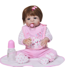 New Arrival 57cm 23Inch Full Silicone Vinyl  Reborn Baby Dolls Life Fashion Newborn Dolls Best For Kids Birthday Gifts Born BeBe