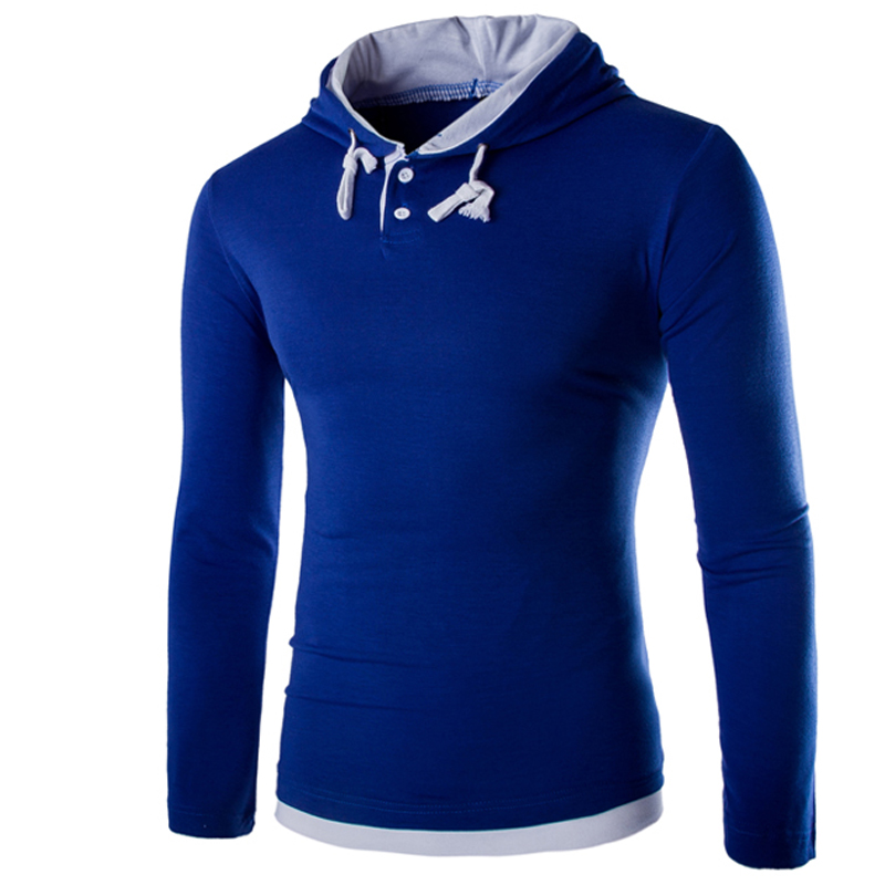 HTB1QhTsKVXXXXc5XFXXq6xXFXXXS - T Shirt Men Brand 2018 Fashion Men'S Hooded Stitching Design Tops & Tees T Shirt Men Long Sleeve Slim Male Tops  XXXL OOISH
