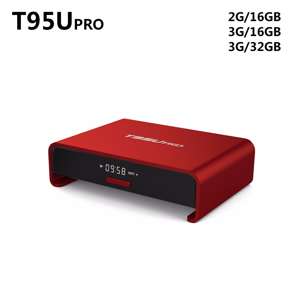 T95U PRO Android 6.0 TV Box Amlogic S912 Octa core Support Dual band WiFi VP9 H.265 UHD 4K Player RAM 2GB/3GB ROM 16GB/32GB csa93 amlogic s912 octa core 3gb ram 32gb android 6 0 tv box 2gb 16gb bt4 0 2 4 5 8g dual wifi h 265 4k 1000m smart meida player