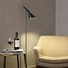 Post-modernDesign Louis Poulsen Arne Jacobsen AJ Floor Lamp Black/White Metal Stand Light for Living Room/Bedroom E27 LED Bulb