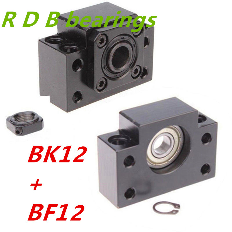 2pc BK15 and 2pc BF15 Ballscrew End Supports CNC
