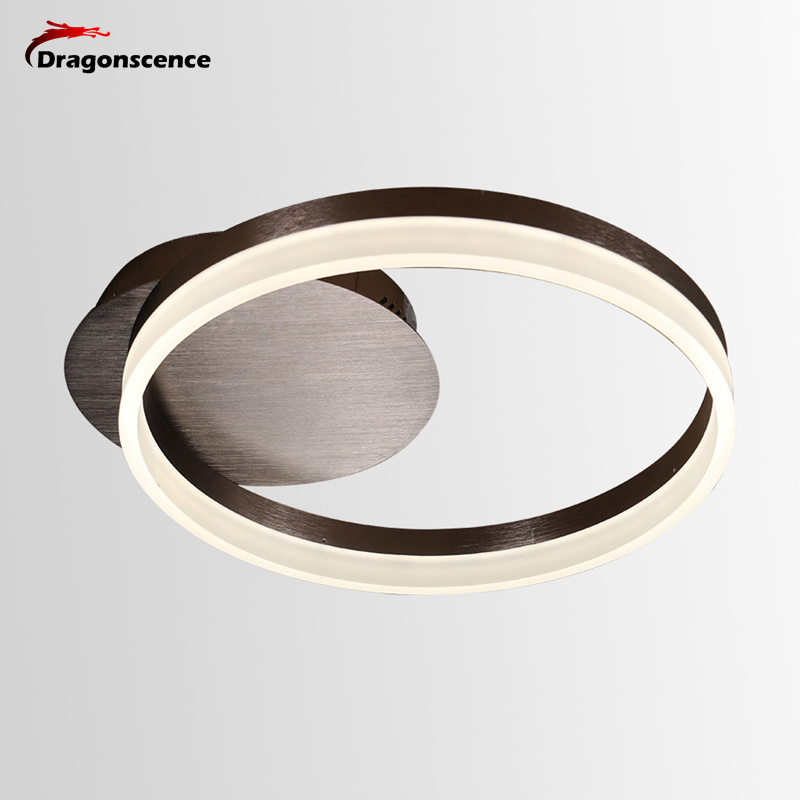 Dragonscence New Modern LED Ceiling lights Circle Rings acrylic ceiling Lamp fixtures for living dining Children's Room bed room dragonscence new modern led chandelier lights for living room dining room 4 3 2 1 circle rings acrylic ceiling lamp fixtures