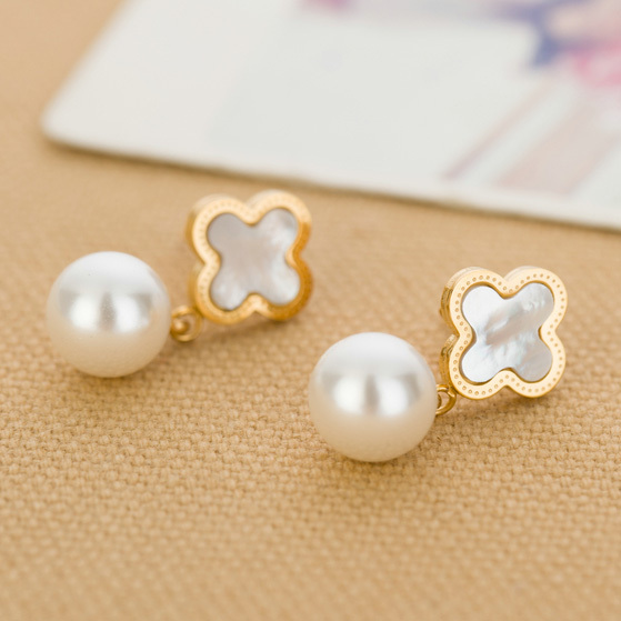 wholesale price Flower Shell 316L Stainless Steel Pearl Chars