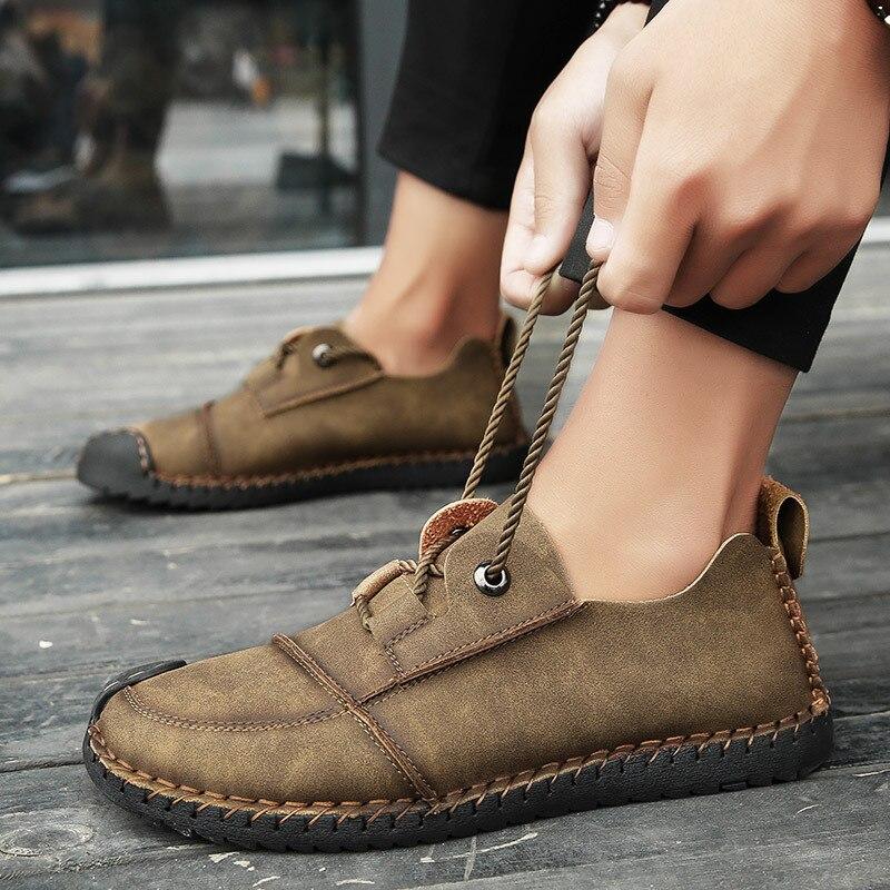 kaki En Mode Shoes2 Chaussures Occasionnels Appartements Cuir Hommes Qualité Golden Marche noir Mâle Mocassins De Haute Confortable wHTgUg