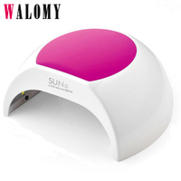 48W UV LED Nail Dryer With Low Heat Mode Silicon Cap Professional Nail Dryer UV Lamp