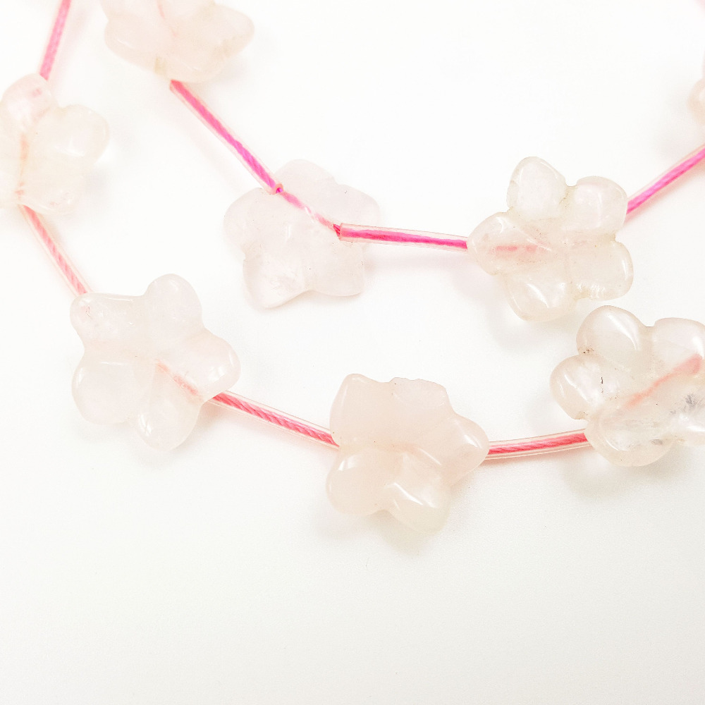Aliexpress.com : Buy Lii Ji Natural Stone Green Aventurine, Rose Quartz ,India Agate ,Black Stone, Koread Jade ,Red Agate Flowers Loose Beads 14mm from ...