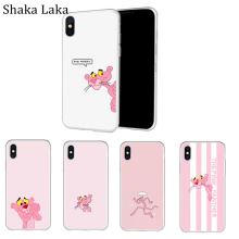 Cartoon Pink Panther Phone Case For iPhone X XS MAX SE 5 5s Cases for 7 8 6S Plus Transparent Soft Silicone