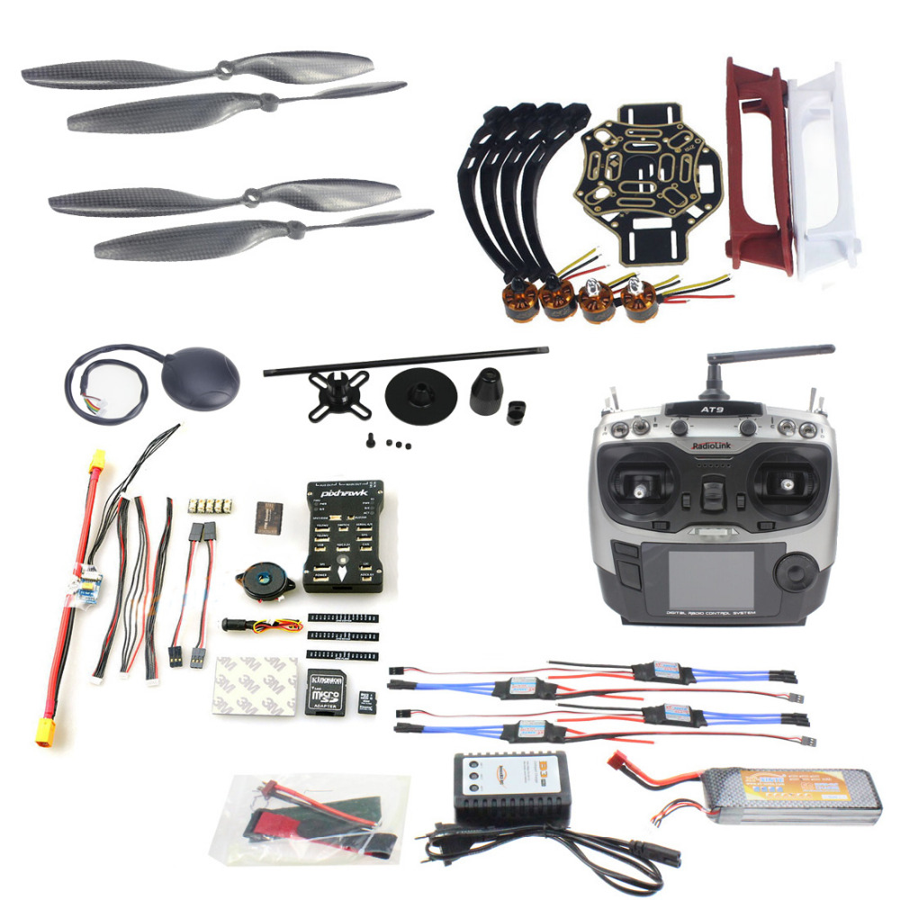 F02192-AB DIY FPV Drone Quadcopter 4-axle Aircraft Kit 450 Frame PXI PX4 Flight Control 920KV Motor GPS AT9 Transmitter Props