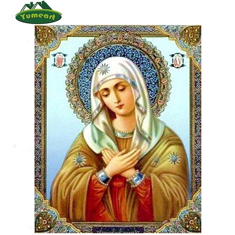 New diy d diamond embroidery fashion religion women