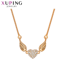 Xuping Elegant Necklace Wings Heart Pattern With Synthetic CZ Jewelry for Women Thanksgiving Gift S107-44485