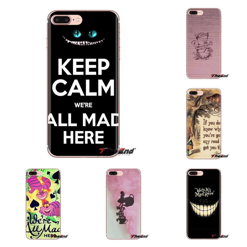 Soft Silicone Case We Are All Mad Here Wallpaper For Huawei G7 G8