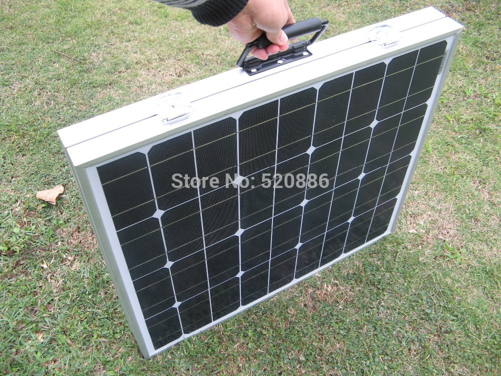 Hot* 100w mono solar panel folding portable solar module monocrystalline, solar charger for 12v battery, free shipping