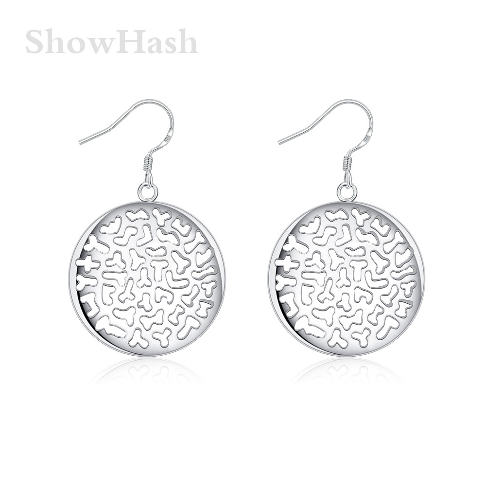 Cheap Silver Plated Fashion Simple Round Hollow Out Shape