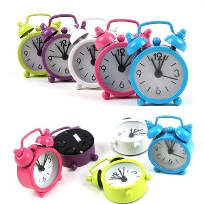 Mini Lovely Cartoon Alarm Clocks Dial Number Round Desk Alarm Clock Snooze Function Clocks For Kid House Decoration
