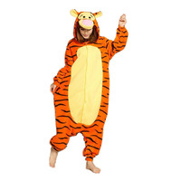 Soft Flannel Cartoon Anime Animal Onesie Pajama Tiger Costume Slipper Not Included Halloween Carnival Party Clothing