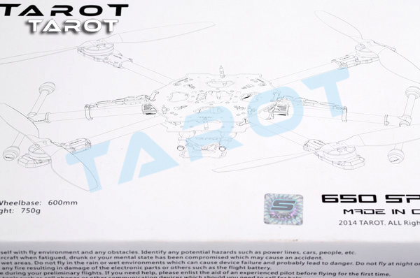 Tarot-RC 650 Sport TL65S01 Multifunction Quadcopter With Retractable Landing Gear