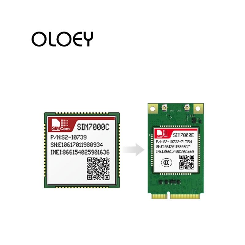 SIMCom SIM7000E LCC  EMTC CAT-M1 NBIOT Module Quad-Band B3/B8/B20/B28 ,GPRS/EDGE:900/1800Mhz