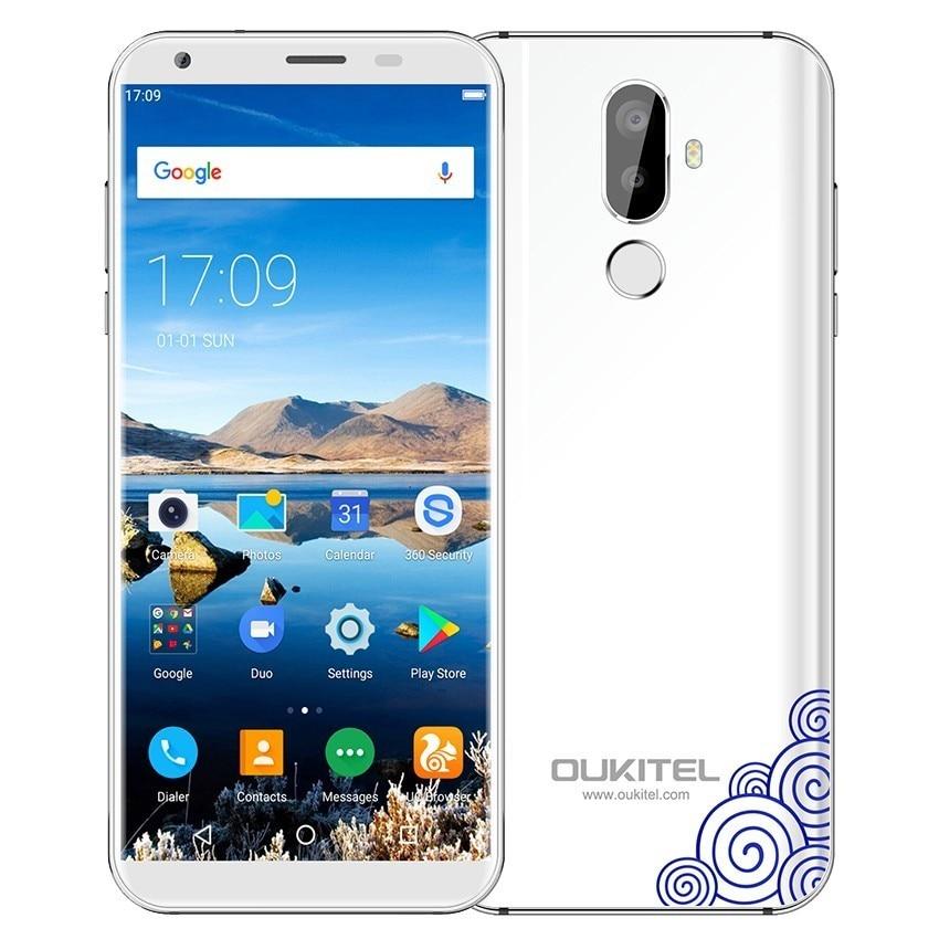 Oukitel K5 Android 7.0 téléphone 5.7 pouces 4G Smartphone MTK6737 Quad Core téléphones téléphone portable d'empreintes digitales téléphone portable double sim