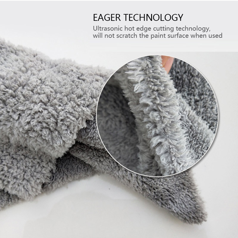Image 5 - Microfiber Towel Car Wash Towels Auto Detialing Clean Cloth Washing Drying Towels Strong Thick Plush Fiber Car Wash Accessories-in Sponges, Cloths & Brushes from Automobiles & Motorcycles