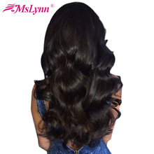 Mslynn Hair Malaysian Body Wave Bundles 100 Human Hair Bundles 1 Pc Natural Color Can Be