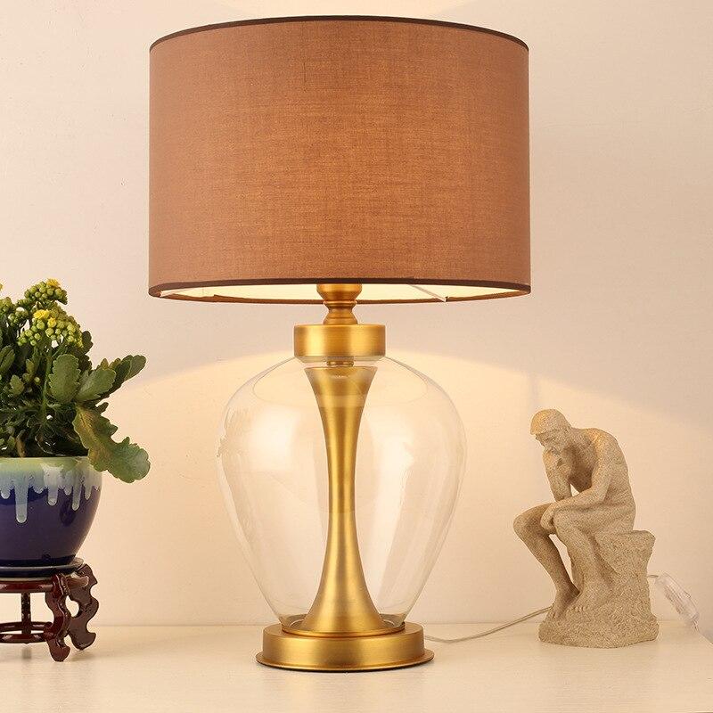 Туда 37X60 см Бесплатная доставка Светодиодный Настольные лампы простой современный Спальня ночники творчески украшения настольная лампа e27