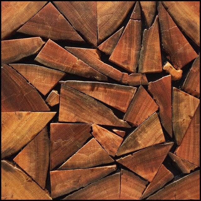Irregolare modello mosaico di legno vecchia nave in legno naturale ...