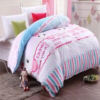 Impressão de algodão Egípcio capa de edredão King Size Rainha Colcha da cama Consolador Conjuntos de Cama De Solteiro Lençóis de Algodão capas de Edredão