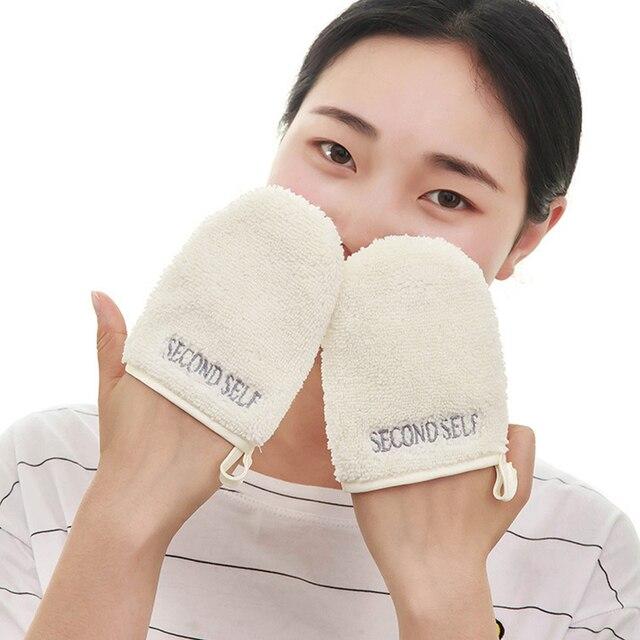 Maquiagem Facial Pano de Microfibra Toalha de Rosto Água Removedor de Limpeza Luva Ferramenta Reutilizável