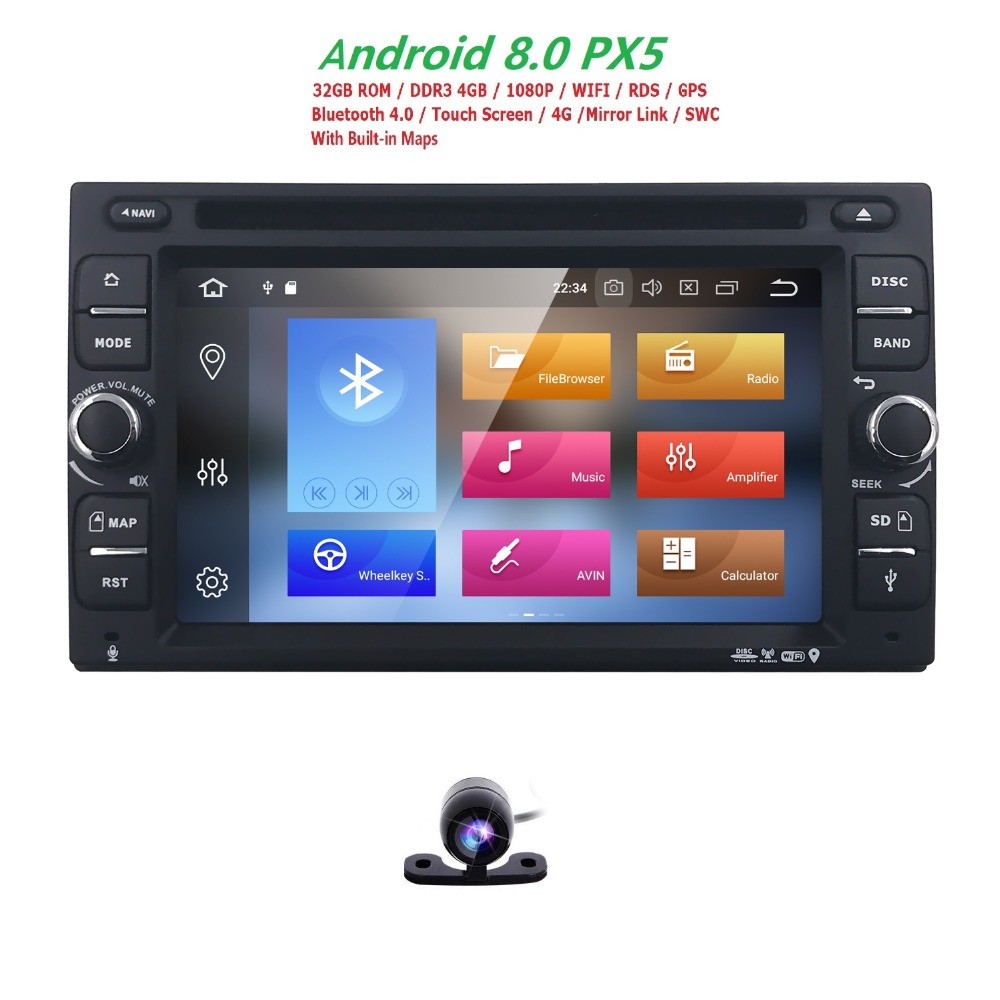 2Din Android 8.0 Universal Car Radio DVD Player GPS Navigation 4GB RAM 32G ROM Car Stereo FM Rds Wifi 4G DAB+ Headunit CAM BT CD android 8 0 2 din 7 universal car radio no dvd player gps navigation 4gb ram car stereo fm rds wifi 4g dab headunit