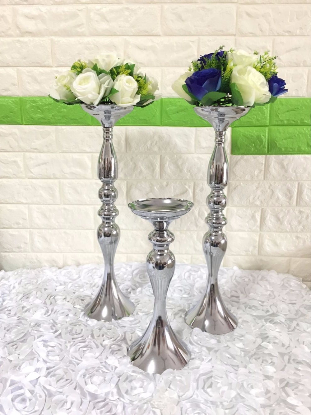 Aliexpress.com : Buy fashion flower ball centerpieces with silver ...