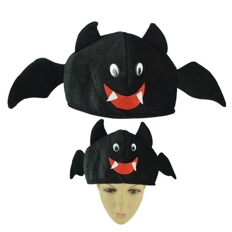2017 Funny Kids Halloween Hats and Caps Plush Bat Pumpkin Halloween Hat for  Children Adults Headwear Drama Props Party Supplies 154b5b776ec