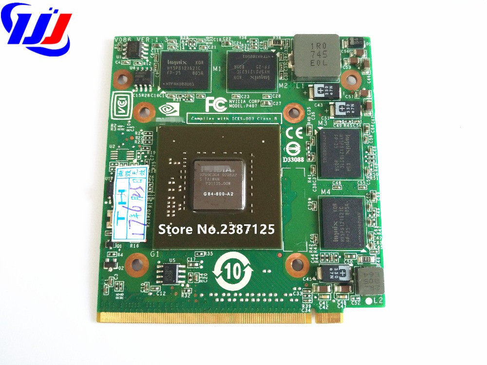 цены For Ac er A spire 5920G 5520G n Vidia GeForce VG.8PS06.001 8600M 8600M GS G84-600-A2 MXM II DDR2 512MB Graphics VGA Video Card