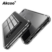 Akcoo Note 10 S10 Plus Cases Shock Absorption Bumper Soft TPU Cover Case for Samsung Galaxy S8 9 S10e note Pro cases