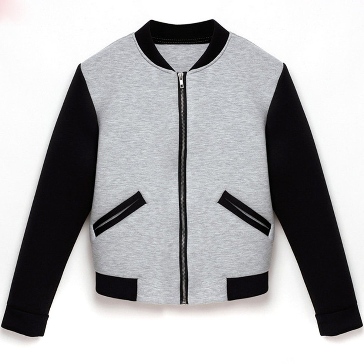 86e78ba7e Puseky 2018 Hot Sale Fashion Womens Bomber Jacket Vintage Zip up Biker  Stylish Padded Zipper Coat Top Blouse Autumn Winter Coats